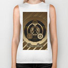 One Love (Brown) Biker Tank