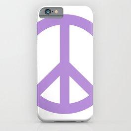 Peace (Lavender & White) iPhone Case