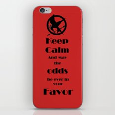 Keep Calm And May The Odds iPhone & iPod Skin