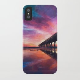 The Pier Sunset iPhone Case