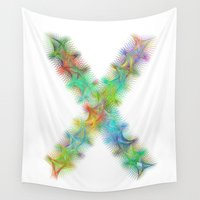 letter Wall Tapestries featuring Letter X by David Zydd