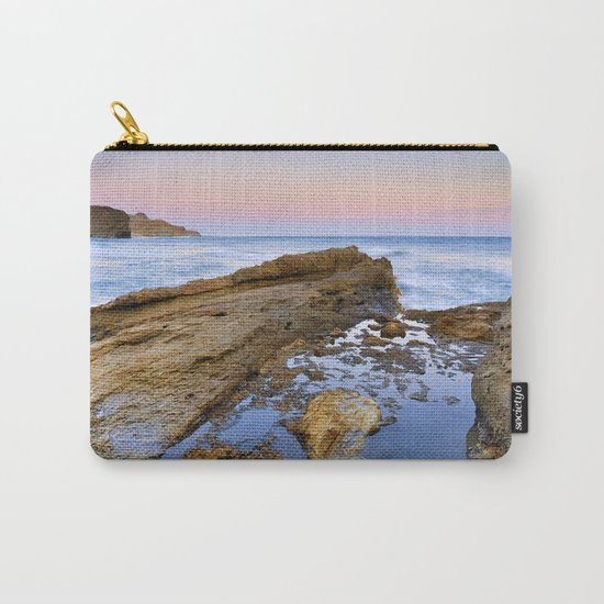 """Volcanic sea at pink sunset"" Carry-All Pouch"