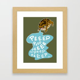 Worlds Cutest Peeper Framed Art Print