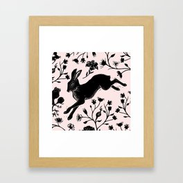 Hare & Vines Framed Art Print