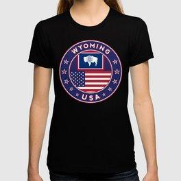 Wyoming, USA States, Wyoming t-shirt, Wyoming sticker, circle T-shirt
