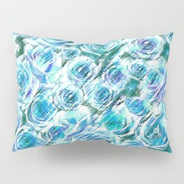 Textured Roses Blue Amanya Design Pillow Sham