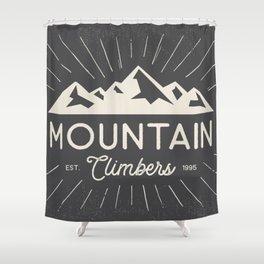 Retro Mountains Shower Curtain