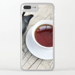 Pouring Healthy Tea Clear iPhone Case