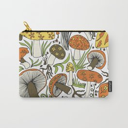 Hand-drawn Mushrooms Carry-All Pouch