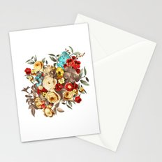 Watercolors Floral Pattern Stationery Cards