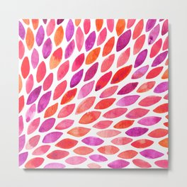 Watercolor brush strokes burst - pink and purple Metal Print