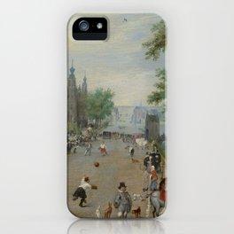 "Jan Brueghel The Elder ""A Jeu de Paume Before a Country Palace"" iPhone Case"