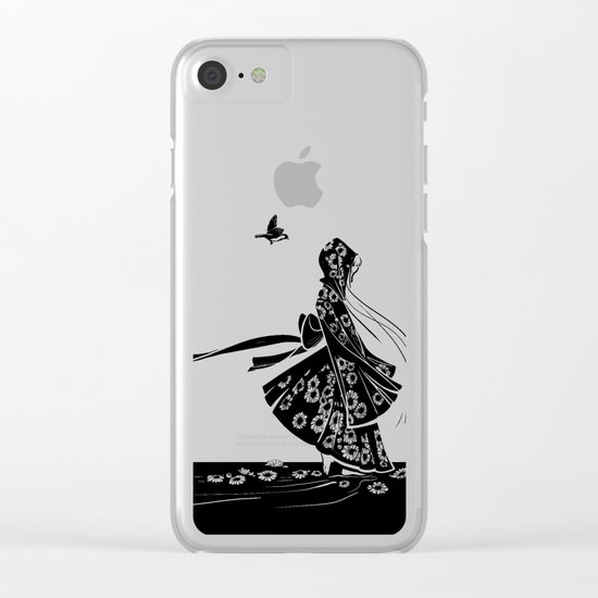 Daisy Girl Clear iPhone Case