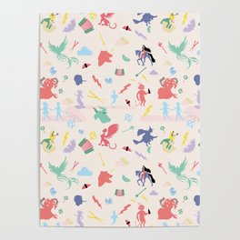 Mythological pattern Poster
