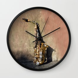 New Orleans French Quarter Saxophone Wall Clock