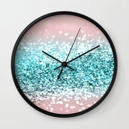 Tropical Summer Vibes Glitter #1 #decor #art #society6 Wall Clock