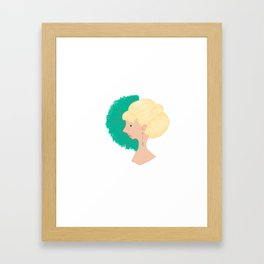 A great lady Framed Art Print