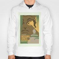 indiana jones Hoodies featuring The Indiana Jones Adventure by Minimalist Magic - Art by Tony Sherg