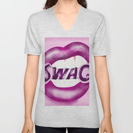 Swag Lips Unisex V-Neck