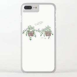 I'm Glad We're in This Together Clear iPhone Case