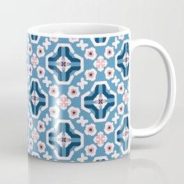Retro Daisy Floral Vector Pattern Hand Drawn,Seamless Vintage Style Flower Coffee Mug