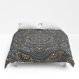 Metallic Dot Mandala Comforters