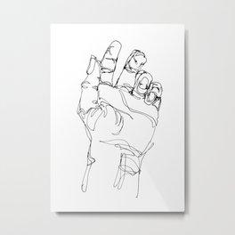 Ink doodle hand #2 Metal Print