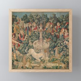 The Hunt of the Unicorn Framed Mini Art Print