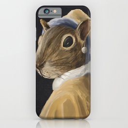 Squirrel with a Pearl Earring iPhone Case