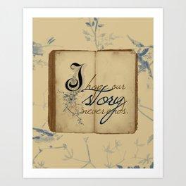 "Fairy Tale Love ""Never Ends"" Art Print"