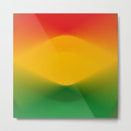 Rasta Color Harmony Metal Print
