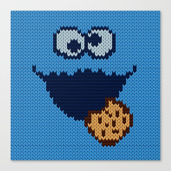 monster 'nom nom' knit Canvas Print