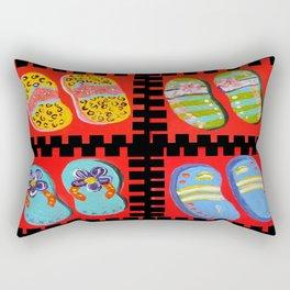 Flip Flops Times Four Rectangular Pillow