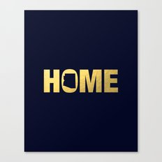 Arizona home state faux gold foil print Canvas Print