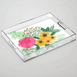 Floral Bouquet no. 2 Acrylic Tray