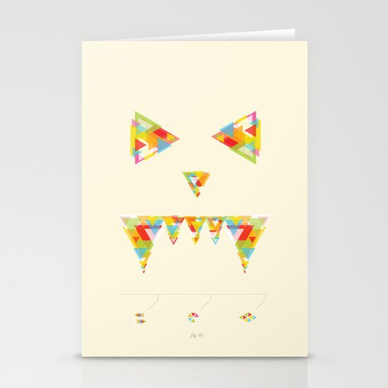 Monster Chaos Stationery Cards