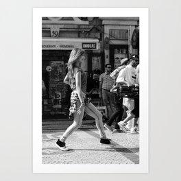Dancer on the street Art Print