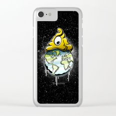 shit rules the world Clear iPhone Case