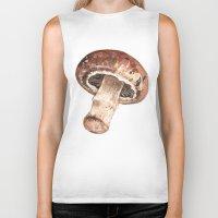 mushroom Biker Tanks featuring Mushroom by Alicia Severson