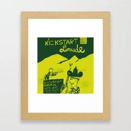 Kickstart Limeade Framed Art Print