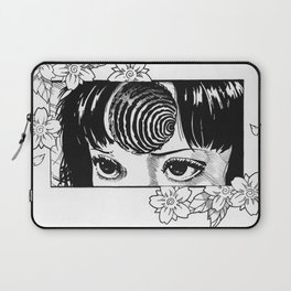 Junji Ito with cherry blossoms Laptop Sleeve