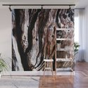 Ancient olive tree wood close-up by annaki