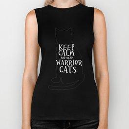 Keep Calm Warrior Cats Biker Tank
