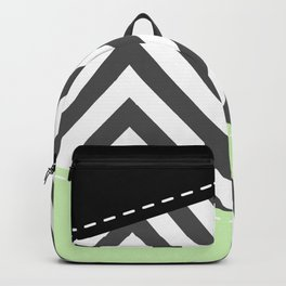 Gray Zigzag, Gray Chevron, Zigzag Pattern, Mint Backpack