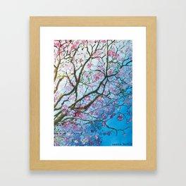 Pink Poui Framed Art Print