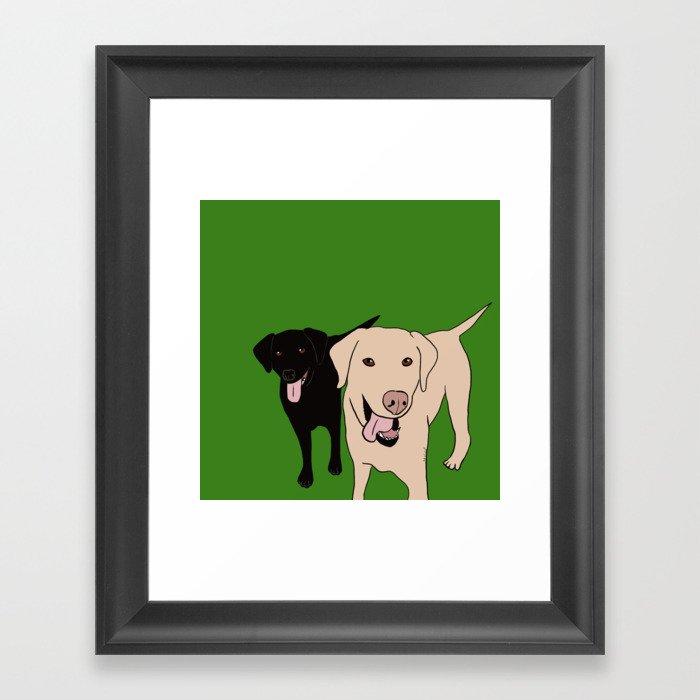 Tanner and Lily Best Labrador Buddies Framed Art Print