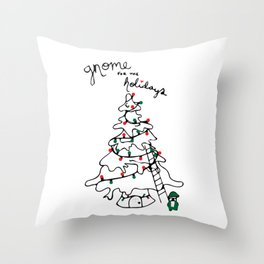 Gnome for the Holidays Throw Pillow