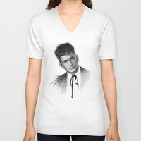 zayn V-neck T-shirts featuring Zayn by Creadoorm