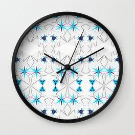 NORDIC STARS_in blue Wall Clock
