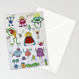 Cheeky little Monsters Stationery Cards